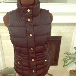 Lilly Pulitzer Black Puffer Vest xs